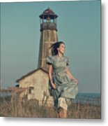 Daughter Of The Lighthouse Keeper Metal Print