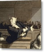 Daumier: Advocate, 1860 Metal Print