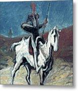 Daumier: Quixote, 19th C Metal Print