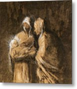 Daumier: Virgin & Child Metal Print