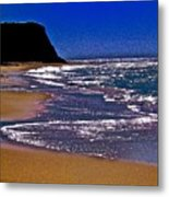 Davenport Landing Beach Purple Metal Print