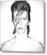 David Bowie Charcoal  Metal Print
