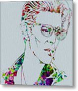 David Bowie Metal Print by Naxart Studio
