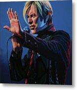 David Bowie Live Painting Metal Print