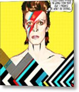 David Bowie Pop Art Metal Print