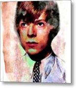David Bowie Teenager Aquarelle  Metal Print