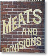 David Mann - Meats And Provisions Metal Print