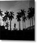 David With Palms Metal Print