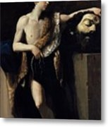 David With The Head Of Goliath 1606 Metal Print
