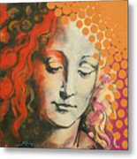 Davinci's Head Metal Print