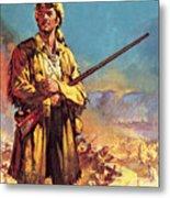 Davy Crockett  Hero Of The Alamo Metal Print