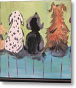 Dawg Outhouse Metal Print