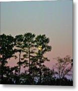 Dawn And Moon Setting - Virginia Metal Print