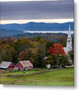 dawn arrives at sleepy Peacham Vermont Metal Print
