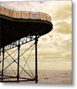 Dawn At Colwyn Bay Victoria Pier Conwy North Wales Uk  Metal Print