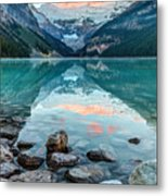 Dawn At Lake Louise Metal Print