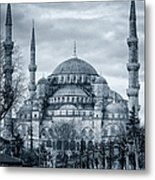 Dawn At The Blue Mosque Metal Print