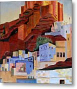 Dawn At The Fort In Jodhpur  Metal Print