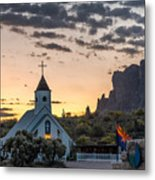 Dawn At The Superstitions Metal Print