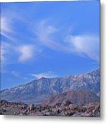 Dawn Eastern Sierra Nevada Mountains Metal Print