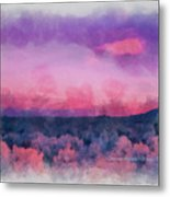 Dawn In Taos In Aquarelle Metal Print
