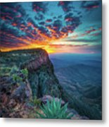 Dawn In The Chisos Metal Print