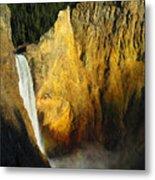 Dawn, Lower Falls Of The Yellowstone Metal Print