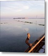 Dawn On Lagoon Metal Print