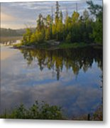 Dawn On The Basswood River Metal Print