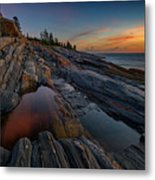 Dawn Over Pemaquid Point Metal Print