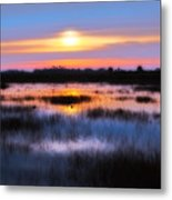 Dawn Over The Salt Marsh Metal Print