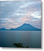 Dawn Over The Volcano 4 Metal Print