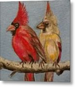 Dawn's Cardinals Metal Print