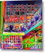 Day At The Market Metal Print