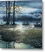 Day Break On Inlet Port Moody Metal Print