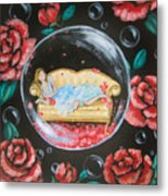 Day Dreaming In My Bubble Metal Print