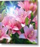 Day Light Lilies Metal Print