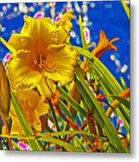 Day Lilies In The Sky With Diamonds  Metal Print