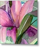 Day Lily Pink Metal Print