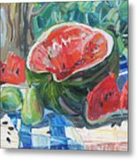 Day Of A Water-melon Metal Print