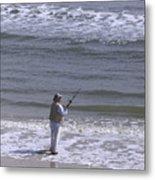 Day Of Ocean Fishing Metal Print