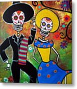 Day Of The Dead Bailar Metal Print