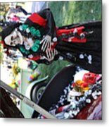 Day Of The Dead Car Trunk Skeleton  Metal Print