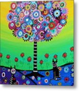 Day Of The Dead Cat'slife Metal Print