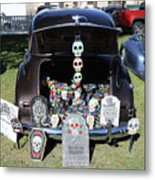 Day Of The Dead Classic Car Trunk Display  Metal Print