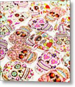 Day Of The Dead Colors Metal Print
