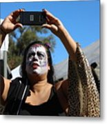 Day Of The Dead Iphone Woman Metal Print