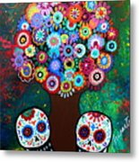 Day Of The Dead Love Offering Metal Print