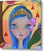 Day Of The Dead Princess Metal Print