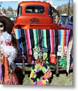 Day Of The Dead Truck Decorations  Metal Print